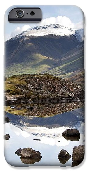 Mountains And Lake At Lake District iPhone Case by John Short
