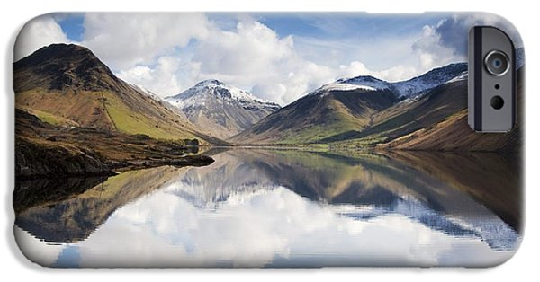 Frigid iPhone Cases - Mountains And Lake, Lake District iPhone Case by John Short