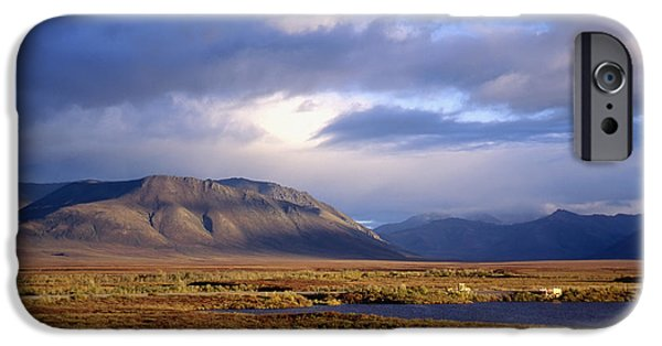Yukon Territory iPhone Cases - Mountains And Lakes, Dempster Highway iPhone Case by Axiom Photographic