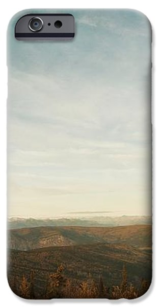 mountains as far as the eye can see iPhone Case by Priska Wettstein