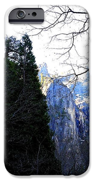 Mountains of Yosemite . 7D6213 iPhone Case by Wingsdomain Art and Photography
