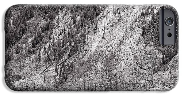 Snow iPhone Cases - Mountainside At Hayden Valley Yellowstone iPhone Case by Steve Gadomski