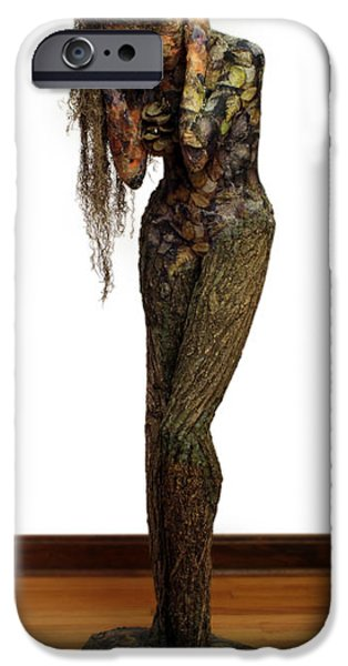 Person Mixed Media iPhone Cases - Mourning Moss a sculpture by Adam Long iPhone Case by Adam Long