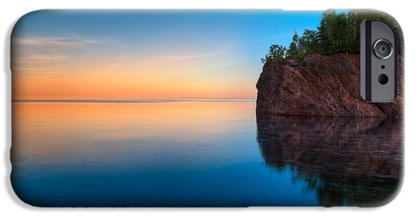 Pines iPhone Cases - Mouth Of The Baptism River Minnesota iPhone Case by Steve Gadomski