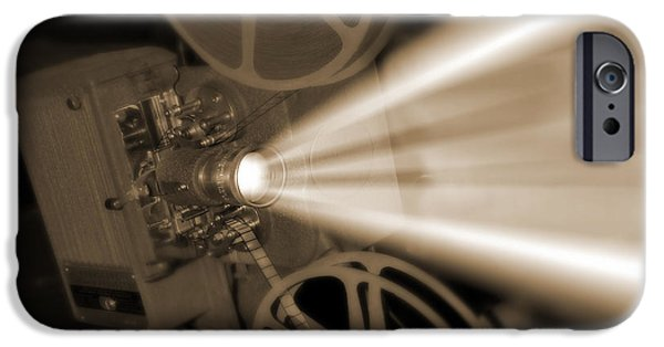 Reeling iPhone Cases - Movie Projector  iPhone Case by Mike McGlothlen