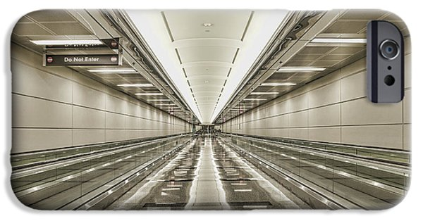 Stainless Steel iPhone Cases - Moving Walkways At Airport iPhone Case by Dave & Les Jacobs