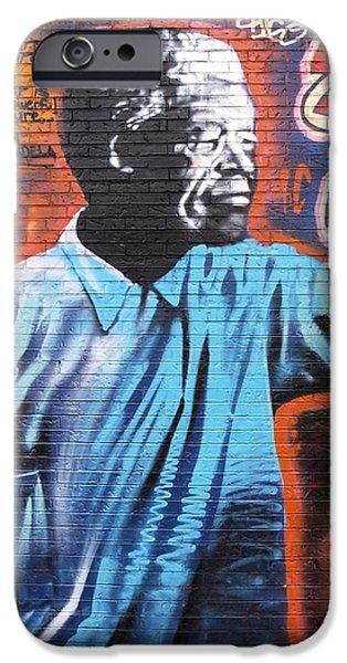 Mr. Nelson Mandela iPhone Case by Juergen Weiss