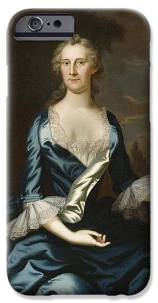 Annapolis Md iPhone Cases - Mrs. Charles Carroll of Annapolis iPhone Case by John Wollaston