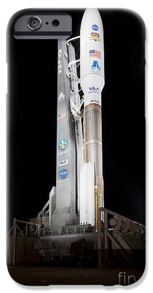 Space-craft iPhone Cases - Msl Rocket Stands Ready For Launch iPhone Case by NASA/Scott Andrews/Canon