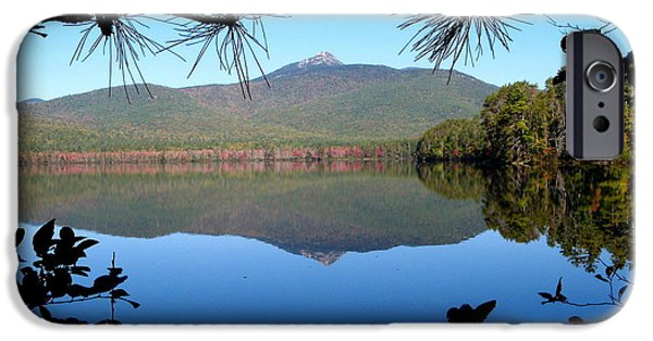 Mt Chocorua iPhone Cases - Mt. Chocorua Reflection iPhone Case by Lloyd Alexander