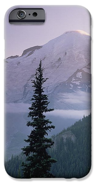 Mt Rainier As Seen At Sunrise Mt iPhone Case by Tim Fitzharris