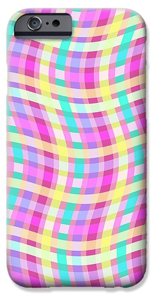 Louisa iPhone Cases - Multi Check iPhone Case by Louisa Knight