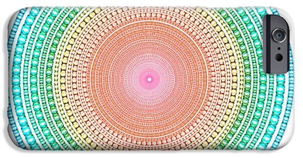 Astral iPhone Cases - Multicolor Circle iPhone Case by Atiketta Sangasaeng