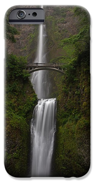 Oregon iPhone Cases - Multnomah Falls iPhone Case by Mike Reid