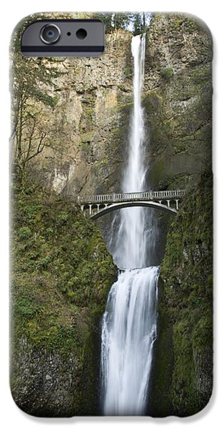 Overhang iPhone Cases - Multnomah Falls iPhone Case by Peter French - Printscapes