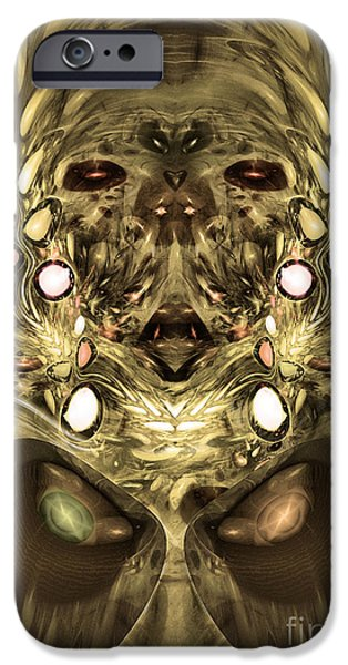 Colorful Abstract Algorithmic Contemporary iPhone Cases - Mummy - Abstract digital art iPhone Case by Sipo Liimatainen
