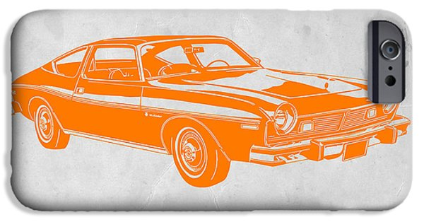 Furniture Photographs iPhone Cases - Muscle car iPhone Case by Naxart Studio