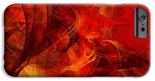 Fine Art Fractal iPhone Cases - Music In Motion iPhone Case by Andee Design