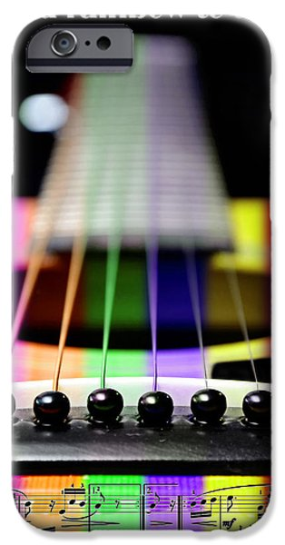 Music Is A Rainbow To The Heart iPhone Case by Andee Design