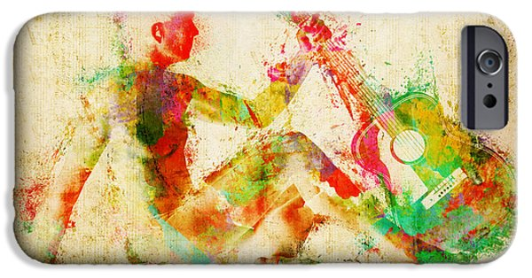 Tasteful Art iPhone Cases - Music Man iPhone Case by Nikki Marie Smith
