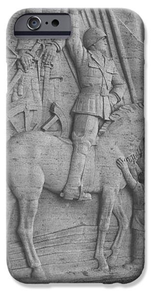 Mussolini, Haut-relief iPhone Case by Photo Researchers