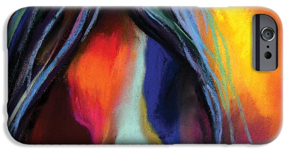 Mustang iPhone Cases - Mustang Horse Painting iPhone Case by Svetlana Novikova
