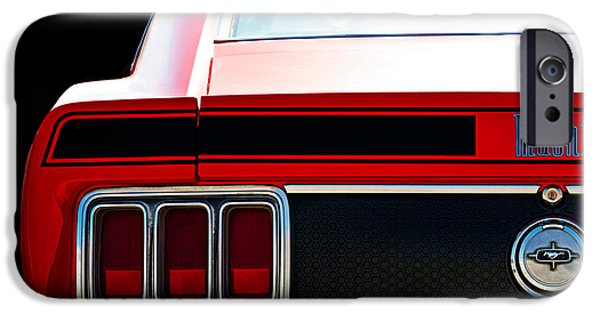 1970 iPhone Cases - Mustang Mach 1 iPhone Case by Douglas Pittman