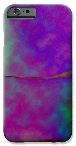 Muted Cool Tone Abstract iPhone Case by Andee Design