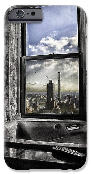 River View iPhone Cases - My favorite channel is Manhattan View iPhone Case by Madeline Ellis