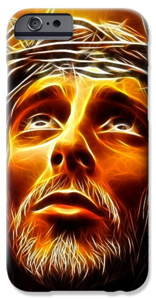 Jesus Crucifiction iPhone Cases - My God  Why Have You Abandoned Me iPhone Case by Pamela Johnson