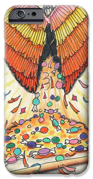 Aceo iPhone Cases - My Heart Is A Pinata iPhone Case by Amy S Turner