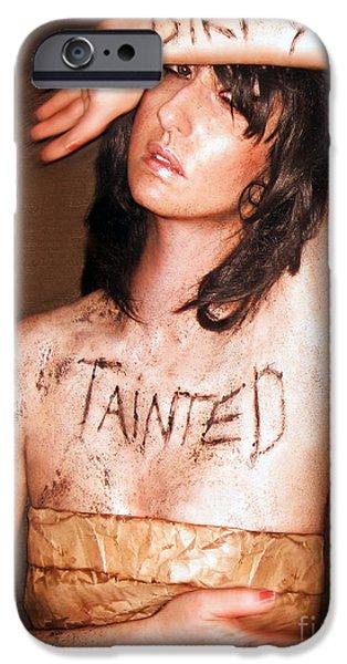 Survivor Art iPhone Cases - My Invisible Tattoos - Self Portrait iPhone Case by Jaeda DeWalt