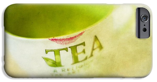 Tea Cup iPhone Cases - My Second Favorite Beverage iPhone Case by Rebecca Cozart