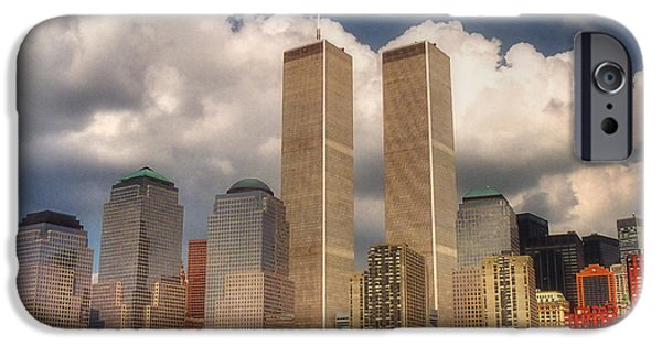 Twin Towers Nyc iPhone Cases - My Skyline iPhone Case by Joann Vitali