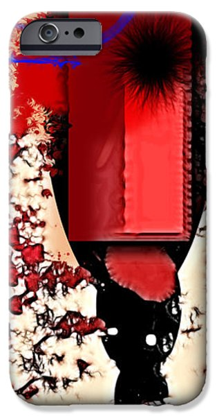 Red Abstract iPhone Cases - My Thoughts Hurt iPhone Case by Stylianos Kleanthous