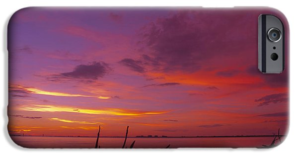 Solitude Photographs iPhone Cases - Mysterious Sunset iPhone Case by Melanie Viola