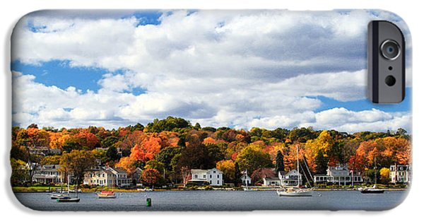 Mystic iPhone Cases - Mystic River in Autumn iPhone Case by Stephanie McDowell