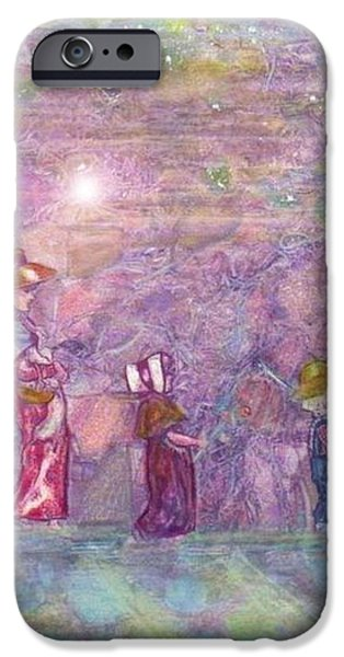 Mystical Landscape Mixed Media iPhone Cases - Mystical Stroll iPhone Case by Ray Tapajna