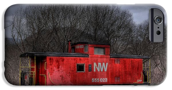 Caboose Photographs iPhone Cases - N W Caboose iPhone Case by Todd Hostetter