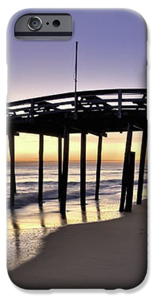 Nags Head Fishing Pier at Sunrise - Outer Banks Scenic Photography iPhone Case by Rob Travis