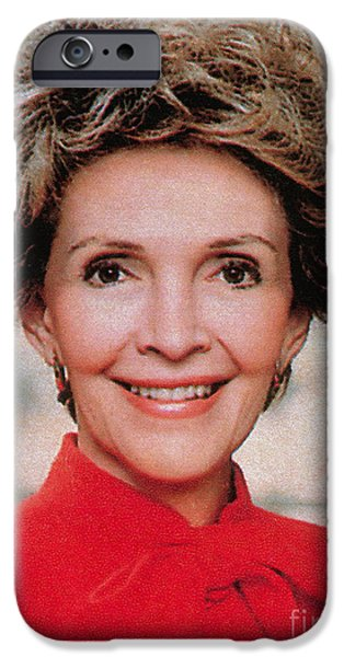 First Lady iPhone Cases - Nancy Reagan, 40th First Lady iPhone Case by Photo Researchers