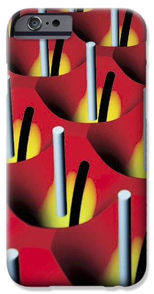 Tweezers iPhone Cases - Nanowire Tweezers, Computer Artwork iPhone Case by Peidong Yanguc Berkeley