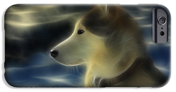 Husky iPhone Cases - Nanuk Husky Fractal iPhone Case by Marjorie Imbeau