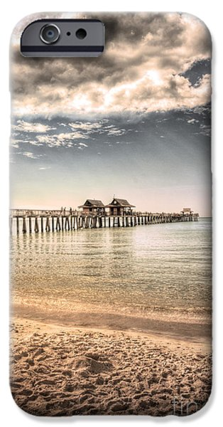 Beautiful People iPhone Cases - Naples Pier iPhone Case by Margie Hurwich