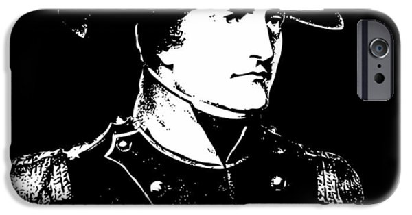 July 4th Digital Art iPhone Cases - Napoleon Bonaparte iPhone Case by War Is Hell Store