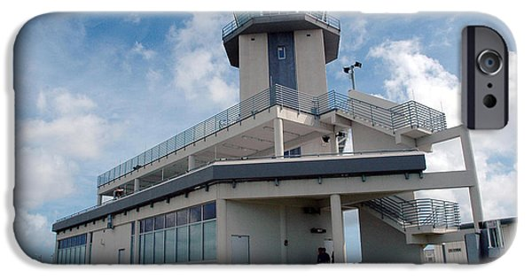 Traffic Control iPhone Cases - Nasa Air Traffic Control Tower iPhone Case by Nasa