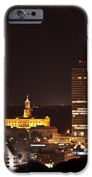 Nashville Cityscape 5 iPhone Case by Douglas Barnett