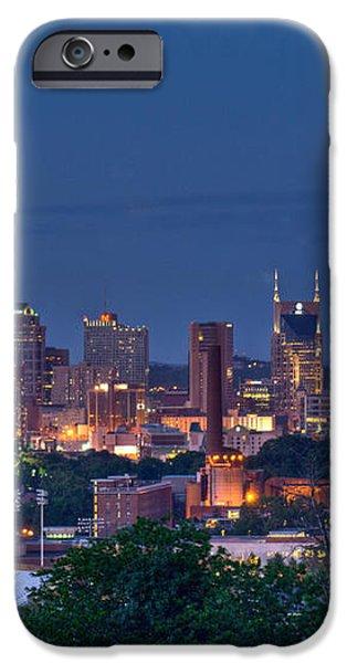 Nashville Cityscape 7 iPhone Case by Douglas Barnett
