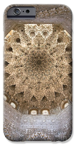 Nasrid Palace ceiling iPhone Case by Jane Rix