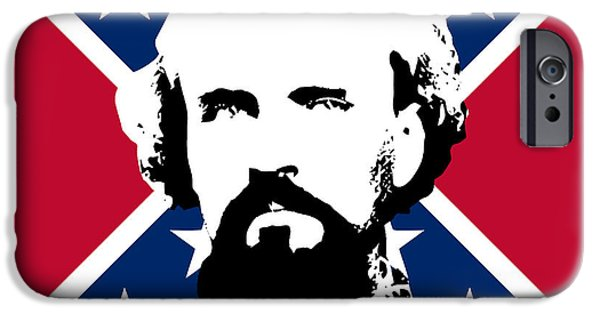 History iPhone Cases - Nathan Bedford Forrest and The Rebel Flag iPhone Case by War Is Hell Store